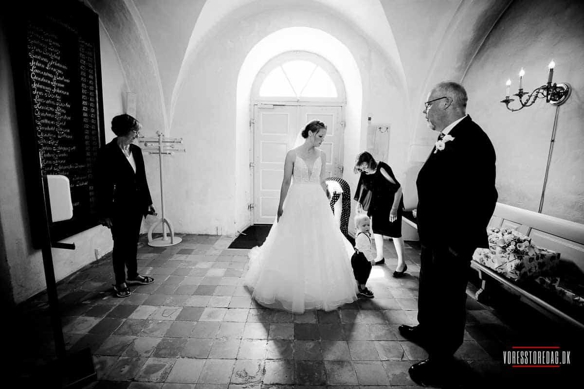 et bryllup i Broager kirken