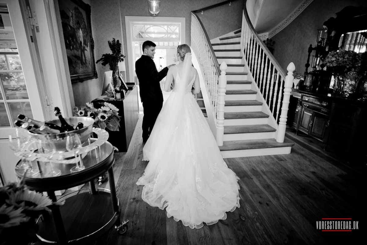 brudeparret Badehotel bryllup