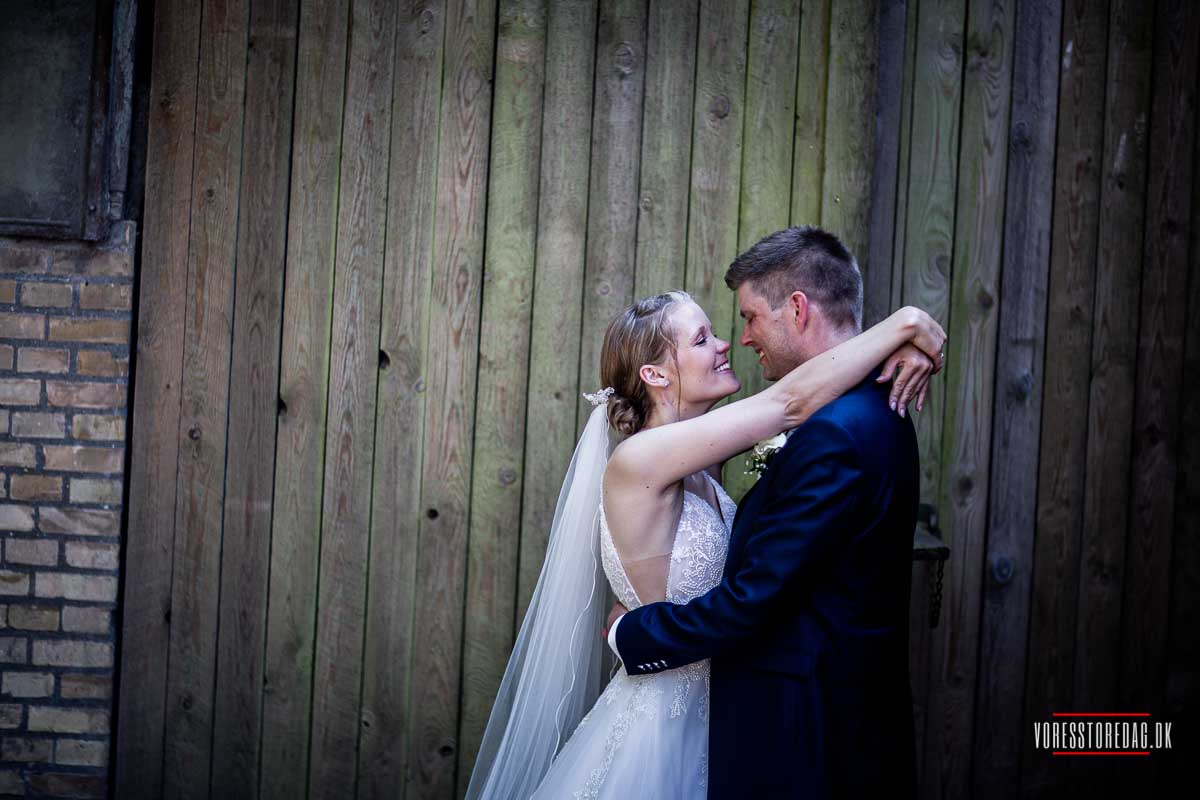 et romantisk bryllup ved Dyvig Badehotel