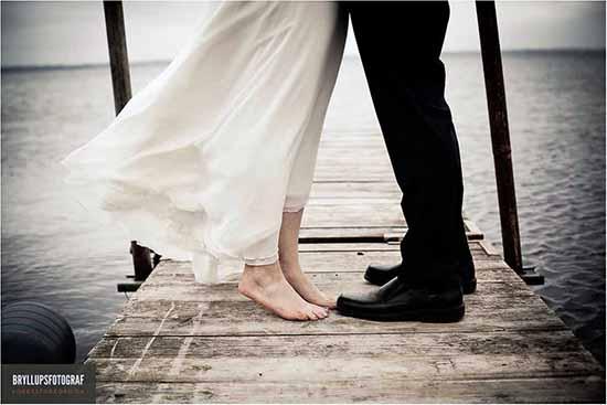 brudens fødder