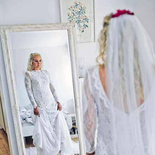 bruden gør sig klar