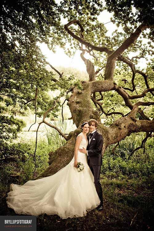 Bryllupsfotograf i Skanderborg Østjylland