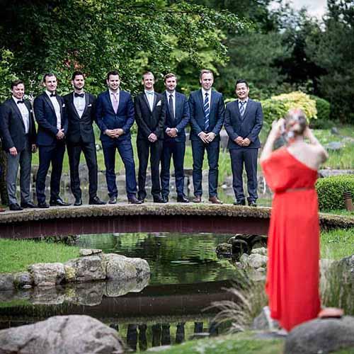 sjov bryllupsbillede