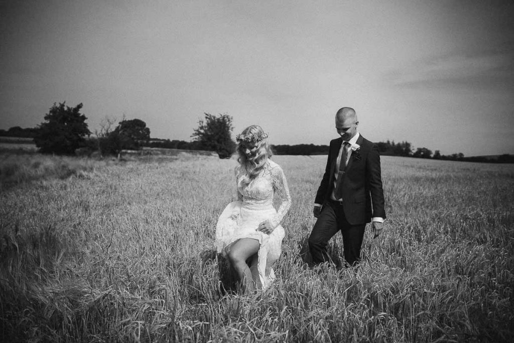 Flotte professionelle bryllupsbilleder fra Midtjylland