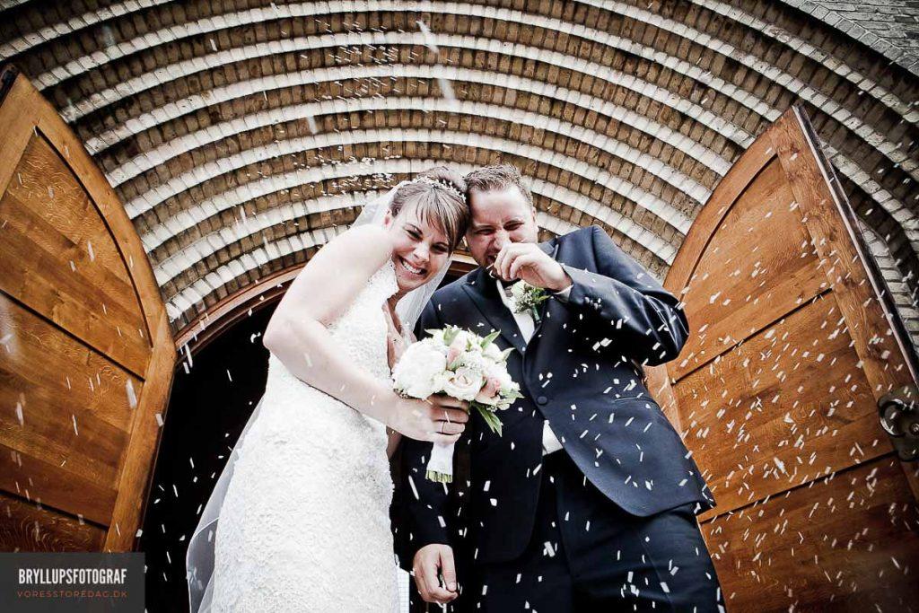 Personlige stilrene bryllupsbilleder