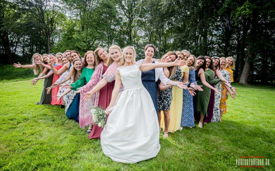 Stor erfaring med at fotografere til bryllupper