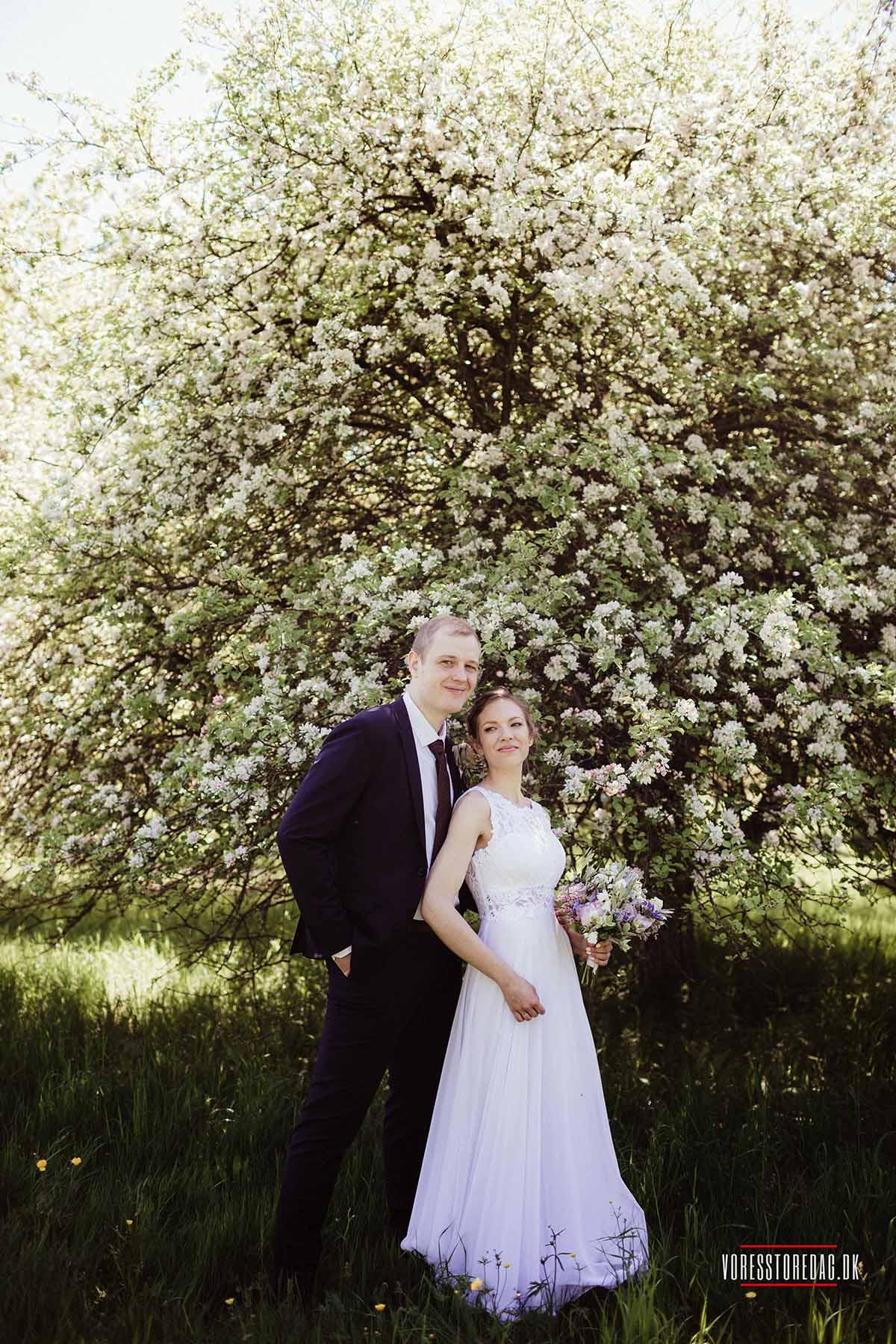 Vi afholdte vores bryllup på Skovmøllen
