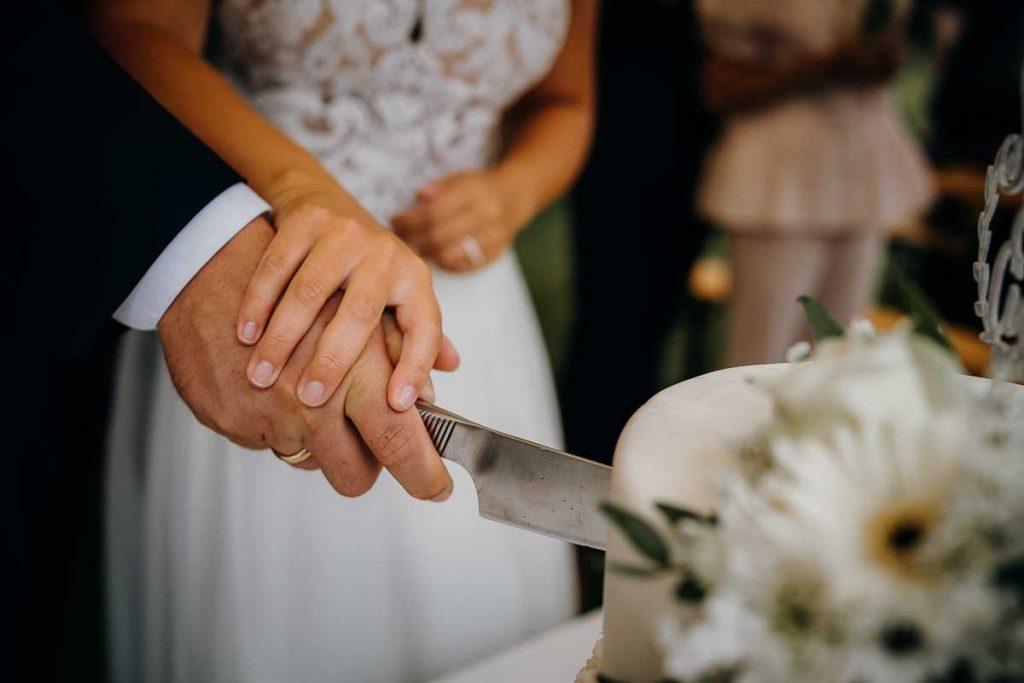 Reception og bryllupskagen